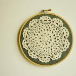 Doily Embroidery Hoop Art ..